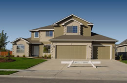 Arlington floor plan with rv bay amyx signature homes for 3 car garage house for sale